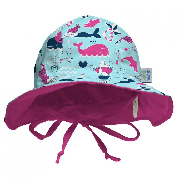 My Swim Baby Cappello con Tesa Little Mermaids-0