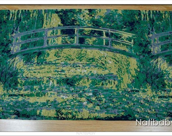 Natibaby Fascia Portabebè Water Lily Pond With Japanese Bridge-0