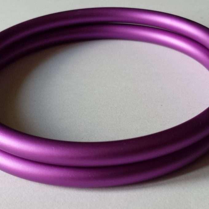 coppia di anelli viola opachi m-0