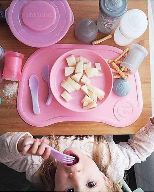 twistshake set tovaglia piatto rosa-5534