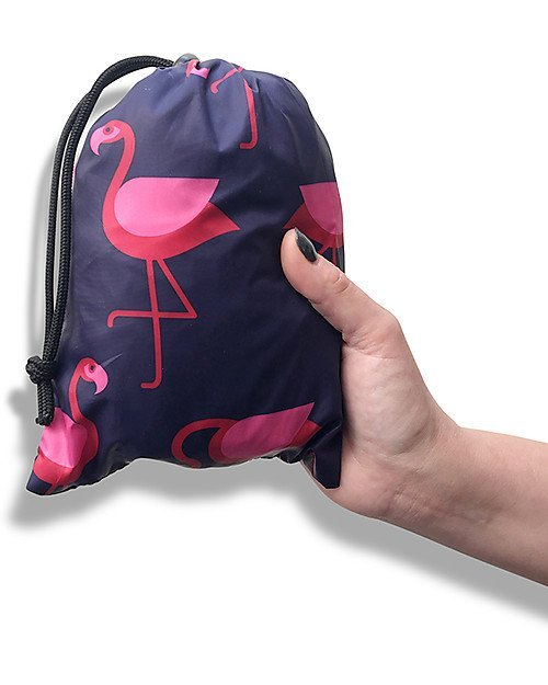 BundleBean Cover Protettiva Impermeabile Leggera Fenicotteri Blu per babywearing -6789