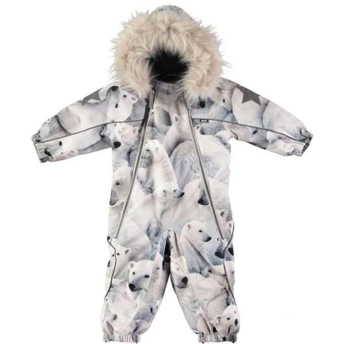 Molo Pyxis Fur Polar Bear Tuta Invernale -0