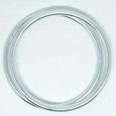 coppia di anelli argento lucido taglia XL-0