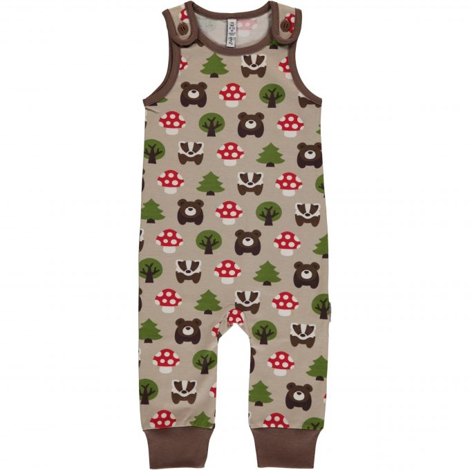 Maxomorra Salopette Playsuit Forest-0