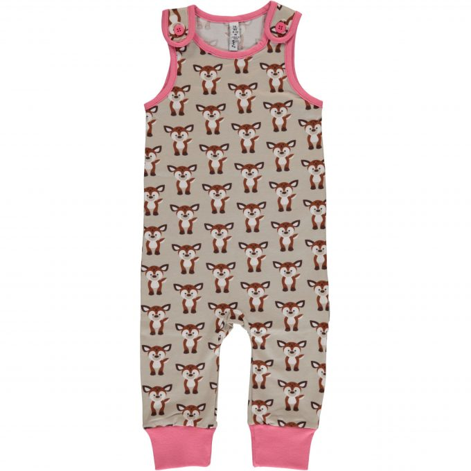 Maxomorra Salopette Playsuit Fawn-0