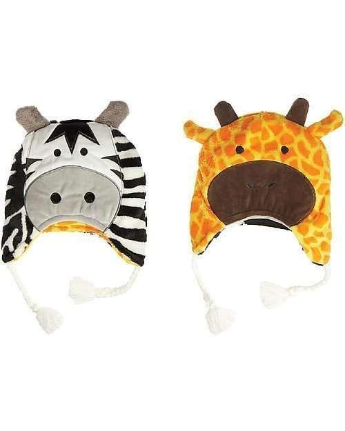 FlapJackKids Cappello Invernale reversibile SFF 50+ Giraffa/Zebra-0