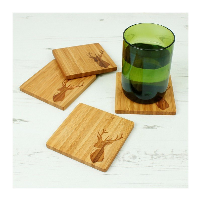 Bambu Set di sottobicchieri/piattini da aperitivo-8716
