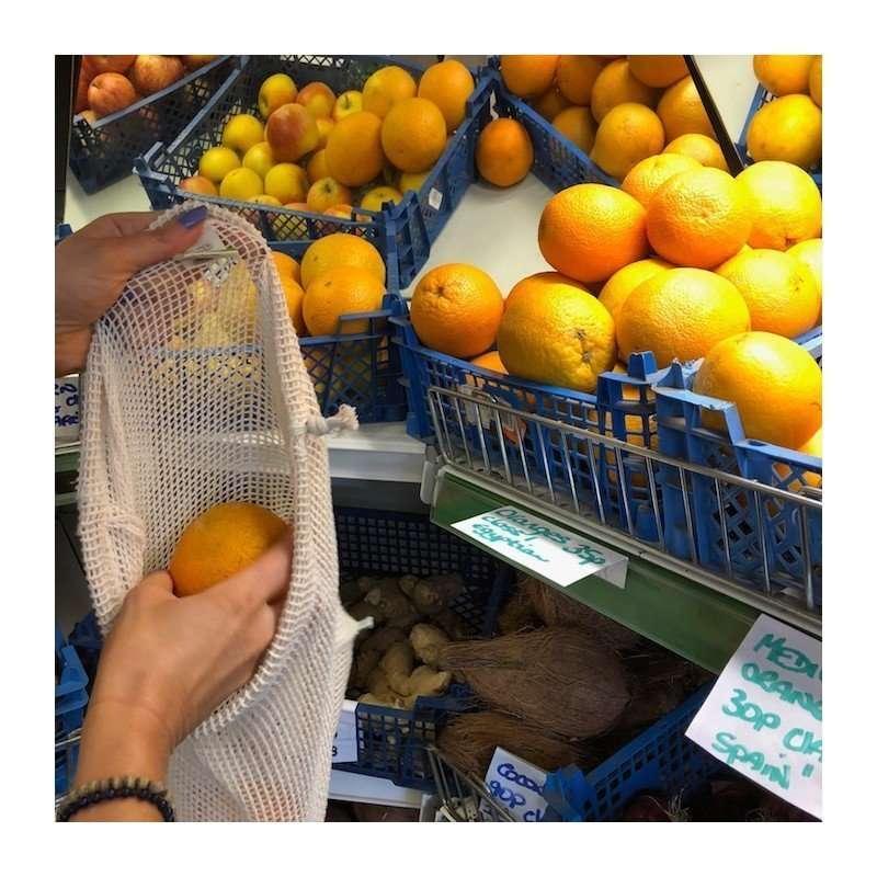 A Slice of Green Borsa per frutta e verdura large in rete-8697