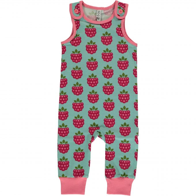 Maxomorra Salopette Playsuit Raspberry-0