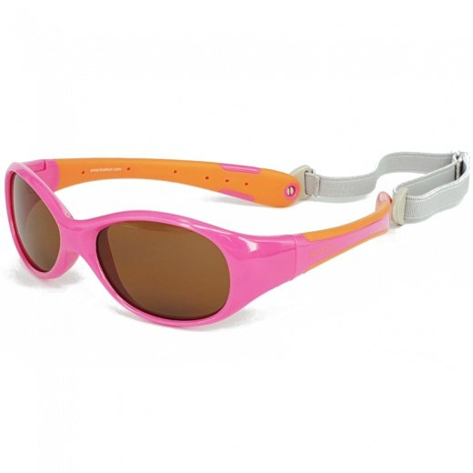 Koolsun Occhiali da Sole Bambino Flex Hot Pink Orange-0