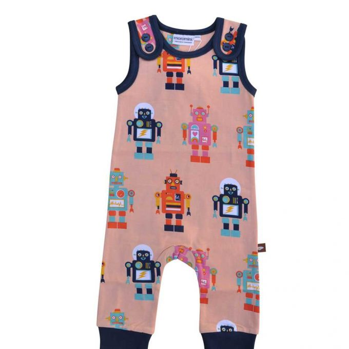 Moromini Salopette/Playsuit Friendly Robot-0