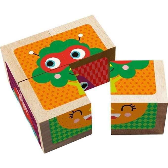 Avenue Mandarine Puzzle/Cubi in legno Frutta e Verdura-0
