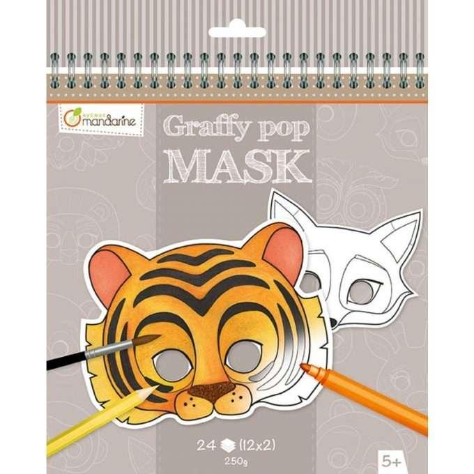 Avenue Mandarine Maschere da colorare Animali-0