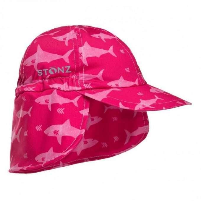 Stonz Cappello Flap cap Protezione sole 50 UPF Fuchsia Shark-0