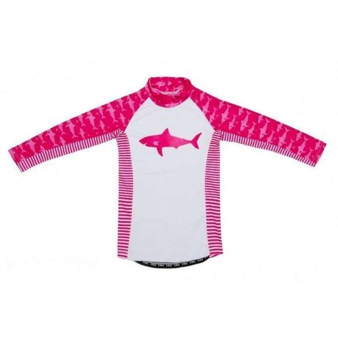 Stonz Maglia Mare UPF 50 Protezione Sole Fuchsia Shark-0