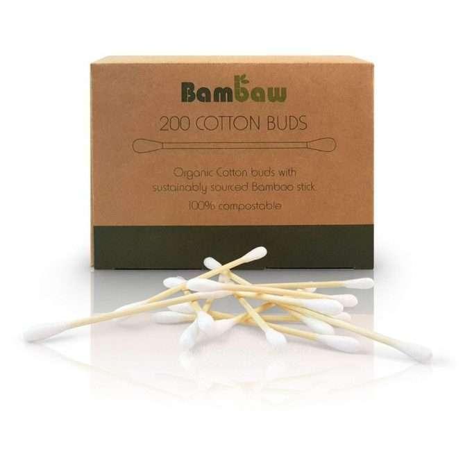 Bambaw Bastoncini per orecchie senza plastica 200 pezzi-0