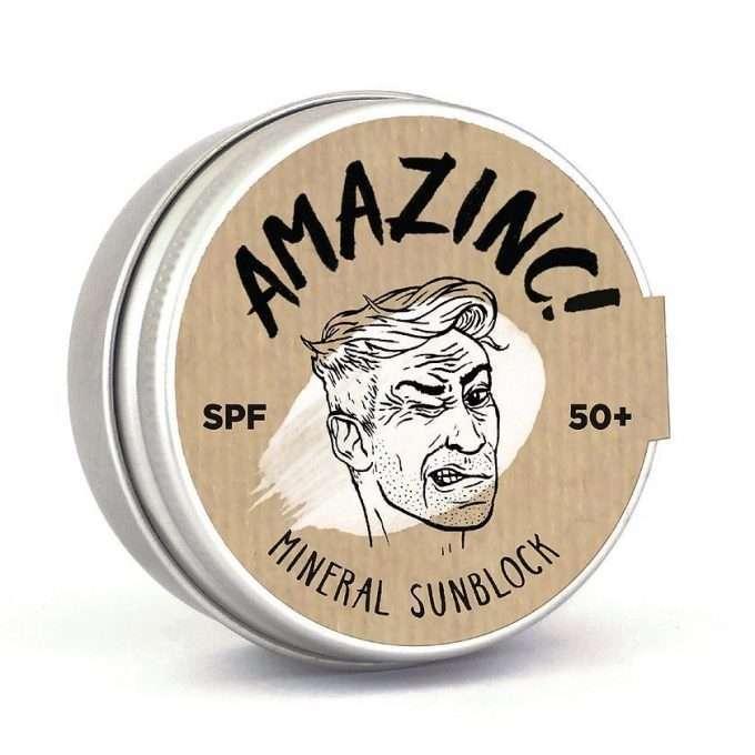 Amazinc Mineral Shield Protezione Solare SPF 50+ Shark Tooth White-0