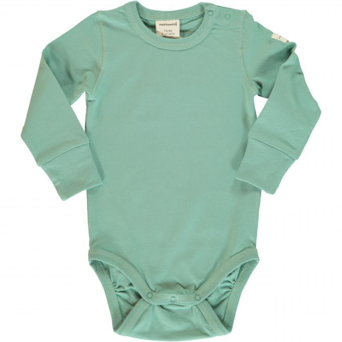 Maxomorra Body Manica Lunga Soft Teal-0