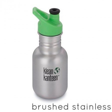 Klean Kanteen Borraccia Kid Kanteen Classic Sport Cap 3.0 Brushed Stainless-0