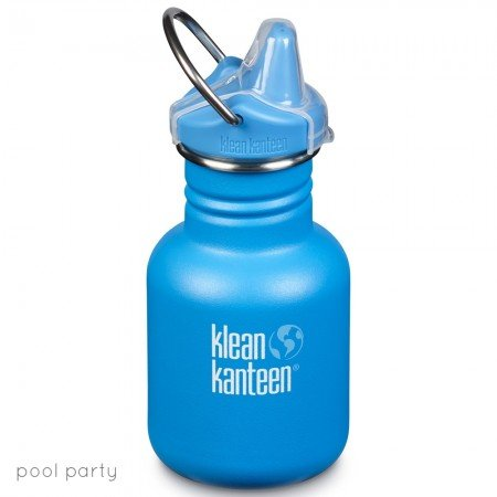 Klean Kanteen Borraccia Kid Kanteen Pool Party Matte Sippy Cap-0