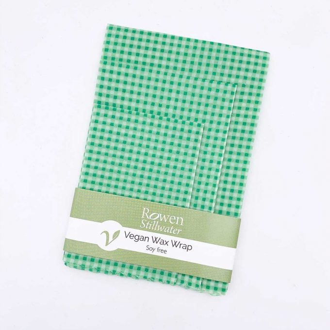 Still Water Pellicola in cera vegetale vegan Green Gingham set da 3 -0
