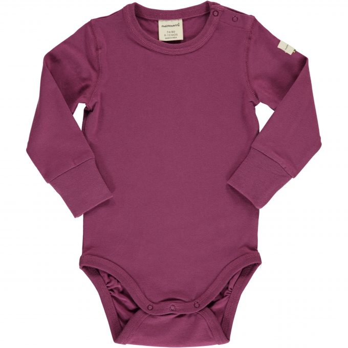 Maxomorra Body Manica Lunga Plum-0