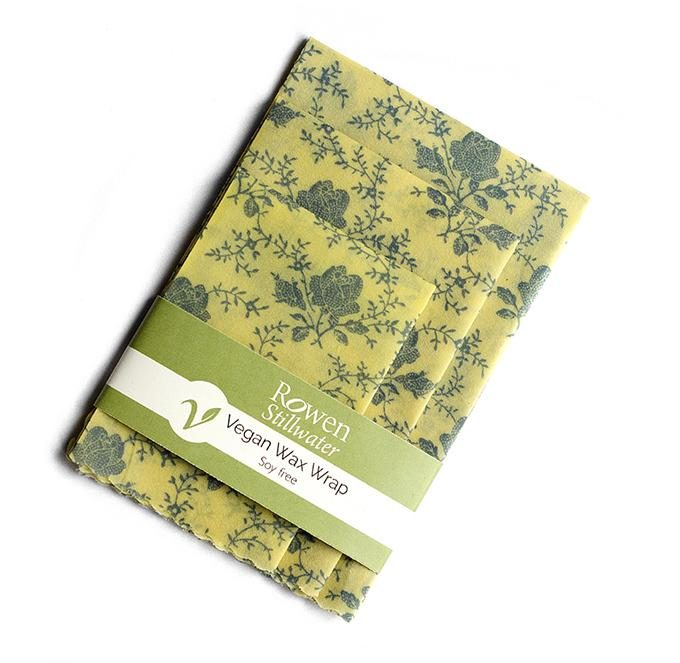 Rowen Stillwater Pellicola in cera vegetale vegan Yellow Floral set da 3 -0