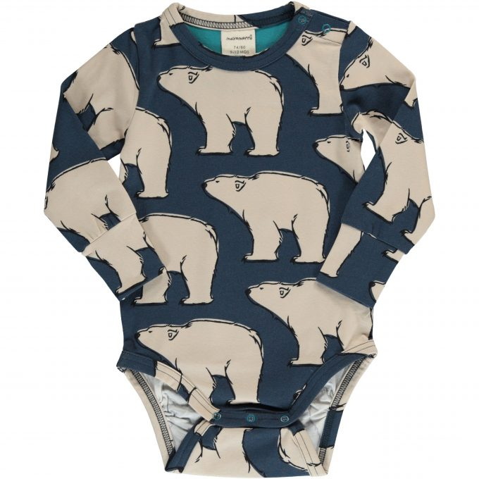 Maxomorra Body Manica Lunga Polar Bear-0