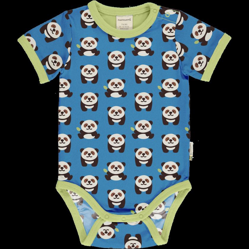 Maxomorra Body Manica Corta Playful Panda-0