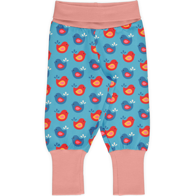 Maxomorra Pants rib Pantaloni Bright Birds-0