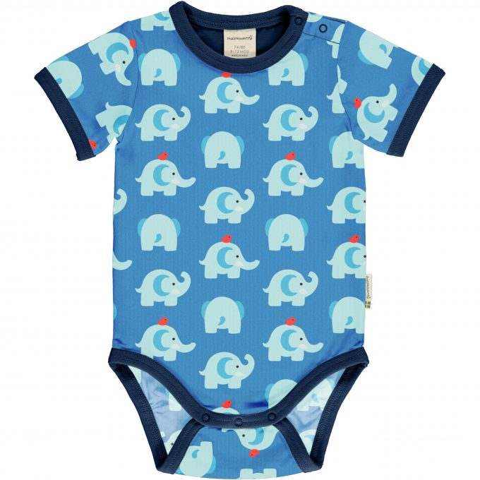 Maxomorra Body Manica Corta Elephant Friends-0