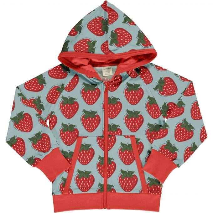 Maxomorra Cardigan con cappuccio Strawberry-0