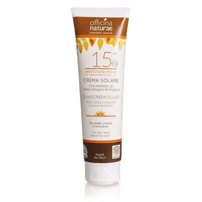 Officina Naturae Crema fluida solare SPF 15 protezione media -0