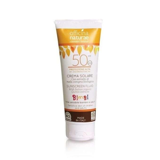 Officina Naturae Crema fluida solare SPF 50 protezione alta -0