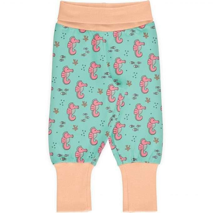 Maxomorra Meyaday Pants rib Pantaloni Sea Horses-0
