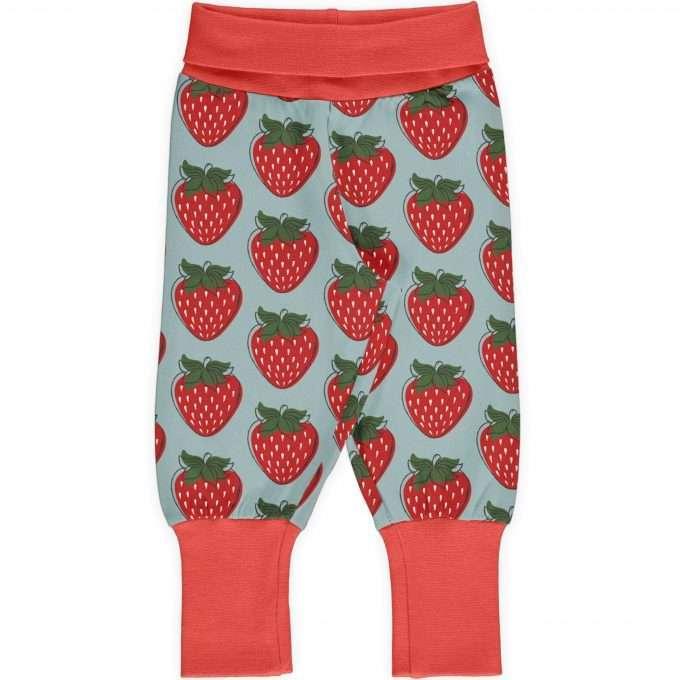 Maxomorra Pants rib Pantaloni Strawberry-0