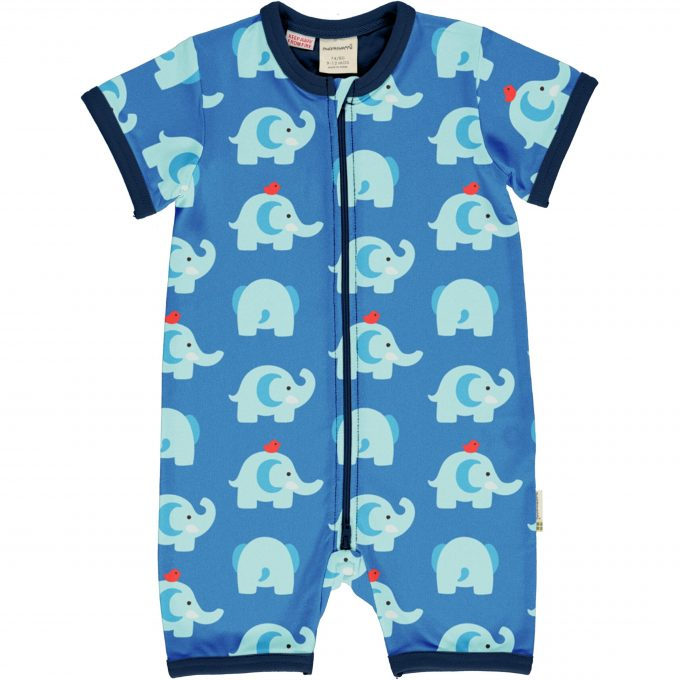 Maxomorra Tuta Maniche Corte Zip Elephant Friends-0