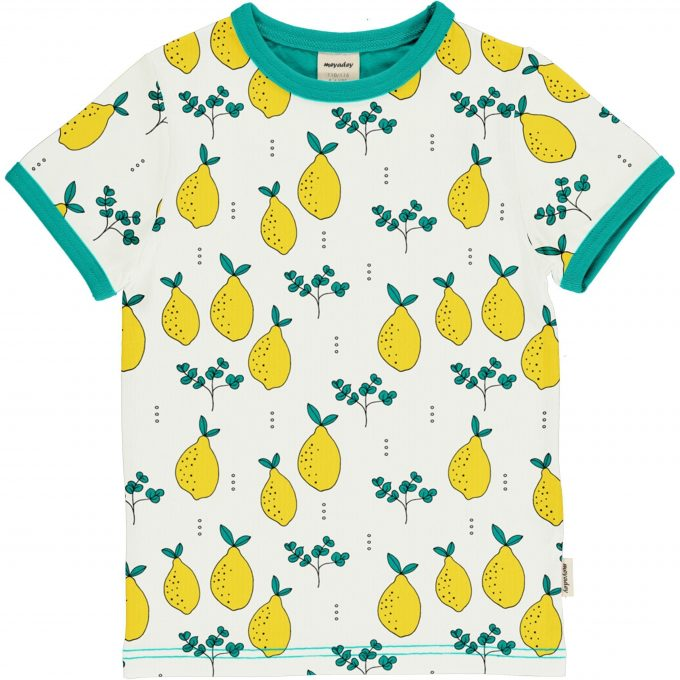 Maxomorra Meyaday Maglia Maniche Corte Leafy Lemon-0