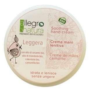 Allegro Natura CREMA MANI BIO LEGGERA CAMOMILLA E CALENDULA BARATTOLO ALLUMINIO-0