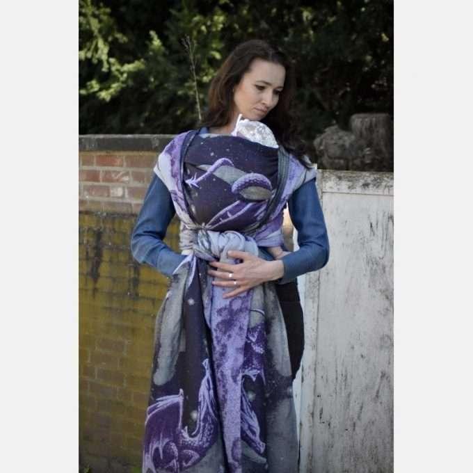Yaro Moonkeeper Trinity Silver Violet Glam fascia tessuta-0